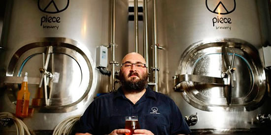 Jonathan Cutler, Brewmaster at Piece Brewery, Chicago