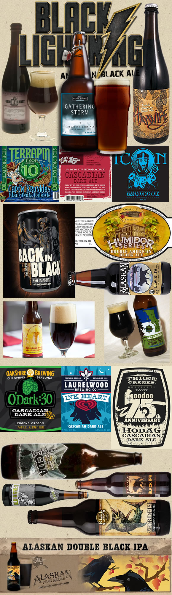 Collection of American Style Black Ales